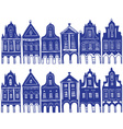 old decorated village houses vector image
