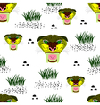 seamless saber toothed tiger vector image
