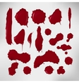 Realistic blood drops set of vector image