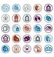 Cottages collection real estate and construction vector image