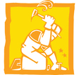 Workman with Hammer vector image vector image