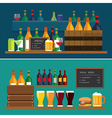 beverage and beer flat design banner vector image