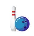 bowling ball and pin vector image