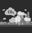 co2 emissions by big city vector image