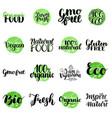 eco bio organic gluten free natural food vector image