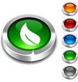 Ecology 3d button vector image