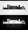 fargo usa skyline and landmarks silhouette vector image