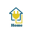 line home electric logo vector image