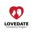 Love Date vector image