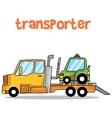 Transporter car of art vector image