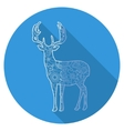 Flat icon of deer vector image