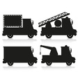 car icon set black silhouette vector image vector image