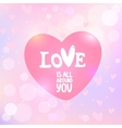 heart with an inscription vector image vector image