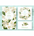 jasmine invitations set vector image