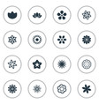 set of simple rose icons vector image