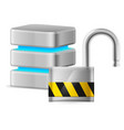 open padlock - computer security concept on vector image vector image