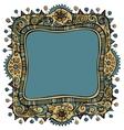 Fantasy decorative frame background vector image