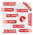 Free Shipping Red Label Design vector image