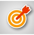 Business target icon vector image