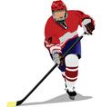 ice hockey vector image vector image