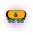 Oil tank icon comics style vector image