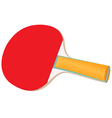 Racket for table tennis vector image vector image