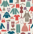 clothes set seamless pattern vector image