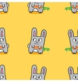 funny cartoon bunnies seamless pattern vector image