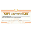 gift certificate template vector image