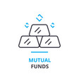 mutual funds concept outline icon linear sign vector image