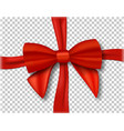 Red ribbon 3d isolated vector image