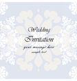 Wedding Invitation with floral background vector image