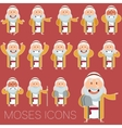 Set of Moses icons2 vector image