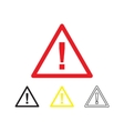 Danger symbol isolated vector image