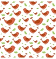 Seamless pattern with birds on light background vector image