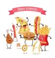 Best Friends Food Banner vector image