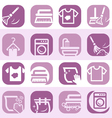 color cleaning and washing icons vector image vector image