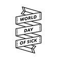 World Day of Sick greeting emblem vector image
