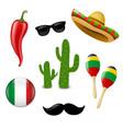 mexican set vector image