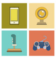 assembly flat icon joystick webcam mobile phone vector image