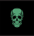 scull black backdround vector image