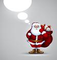 Santa holding sack christmas vector image vector image