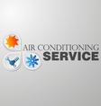 Symbol repair air conditioning vector image vector image