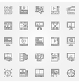 Video editor icons set vector image