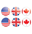 Badges with flags vector image