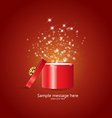 gift and confetti vector image