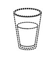glass of milk dotted silhouette on white vector image