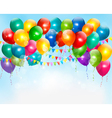 Holiday background with colorful balloons vector image