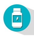 icon sport nutrition container design vector image