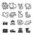 zoo icon vector image